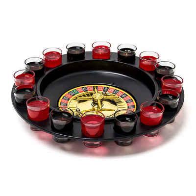 relaxdays Gläser-Set »Roulette Trinkspiel«, Kunststoff