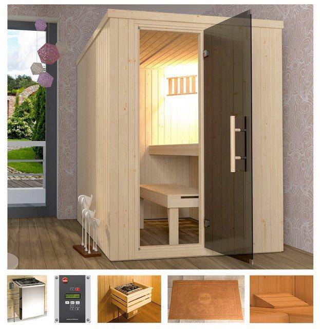 Saunen und Zubehör - weka Sauna »Classic«, BxTxH 154 x 194 x 199 cm, 68 mm, 7,5 kW Bio Kombiofen mit ext. Steuerung  - Onlineshop OTTO