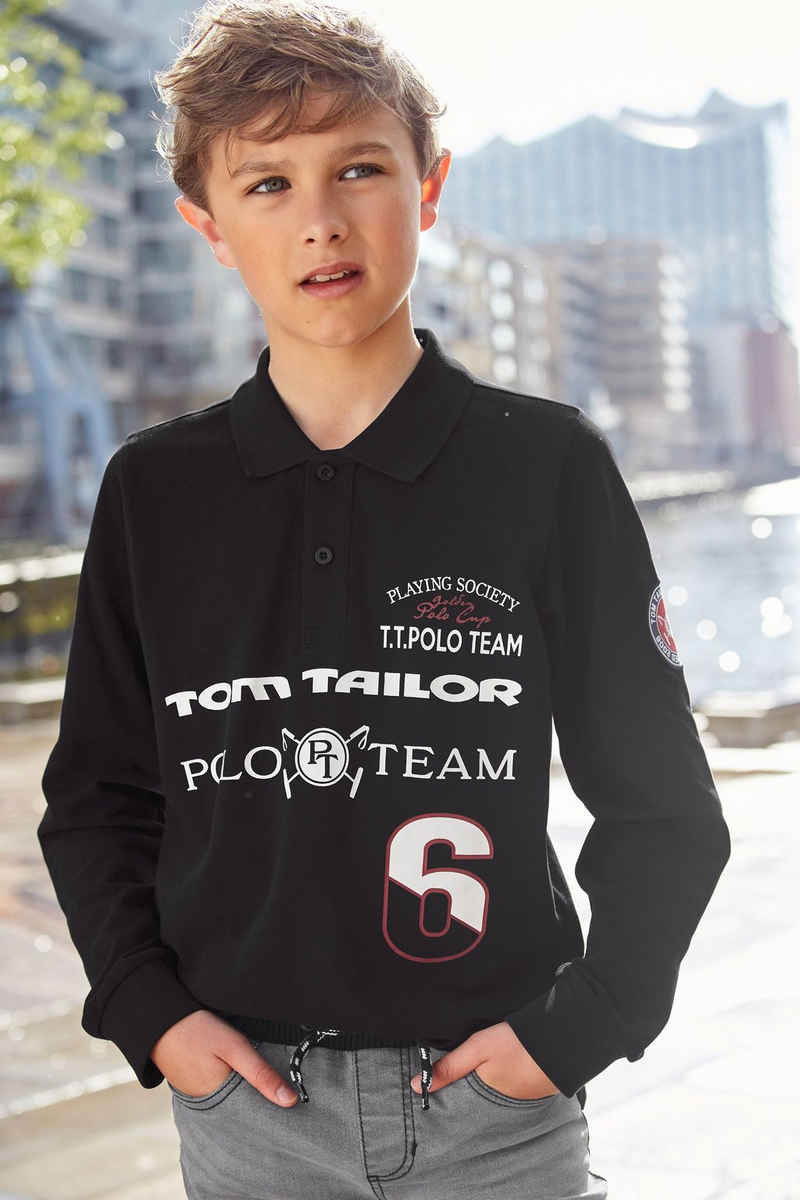 TOM TAILOR Polo Team Langarm-Poloshirt »P.S.«