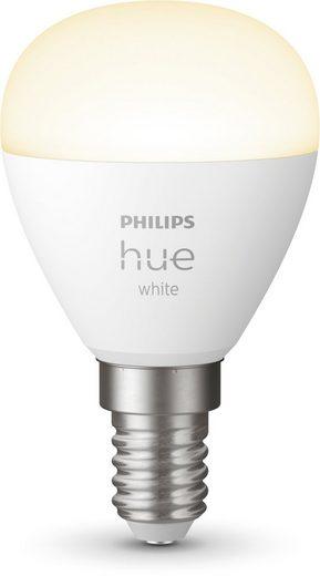 Philips Hue »White E14-Tropfen Luster« LED-Leuchtmittel, E14, Warmweiß, Smarte E14 LED-Lampe in Tropfenform, Lichtsteuerung per Bluetooth oder Hue Bridge, Warmweißes Licht, Stufenloses Dimmen