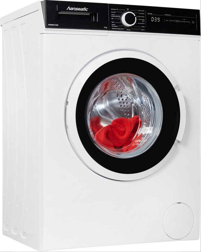 Hanseatic Waschmaschine HWM6T214D, 6 kg, 1300 U/min
