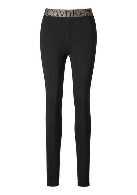Hosen - Calvin Klein Leggings mit aufgesetzter Tasche und eingewebtem Logo im Bund ›  - Onlineshop OTTO