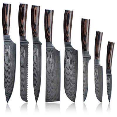 Küchenkompane Kochmesser »Asiatisches Messerset Premium«, 7CR17 Edelstahl - Rostfrei