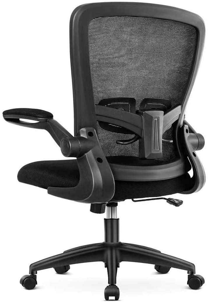 *Aiibot Chefsessel »Bürostuhl, Ergonomischer Schreibtischstuhl mit Klappbaren Armlehnen, Höhenverstellbarer Drehstuhl, Computerstuhl mit Einstellbare Lendenstütze und Leise Rollen, B200 Chefsessel bis 150 kg« (packung)