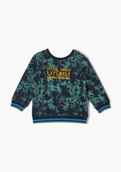 s.Oliver Sweatshirt »Sweatshirt mit Flockprint« (1-tlg) Kontrast-Details