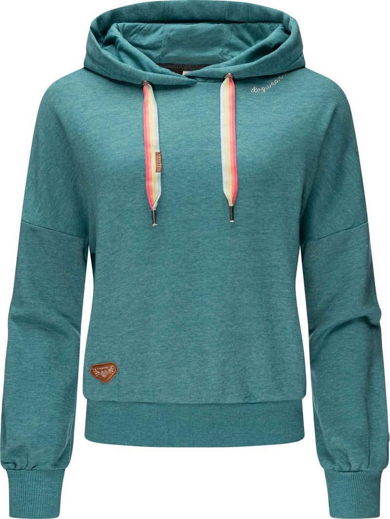 Ragwear Hoodie »Gobby Intl.« Damen Kapuzensweater mit Regenbogen-Bändchen