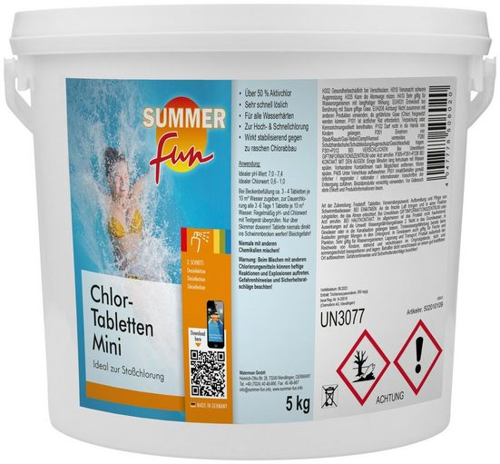 SUMMER FUN Chlortabletten »Chlor-Mini-Tabletten«, 5 kg