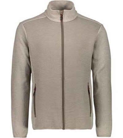 CAMPAGNOLO Bomberjacke »Campagnolo Fleece Knittech Wander-Jacke atmungsaktive Herren Fleece-Jacke Outdoor-Jacke Grau/Beige«