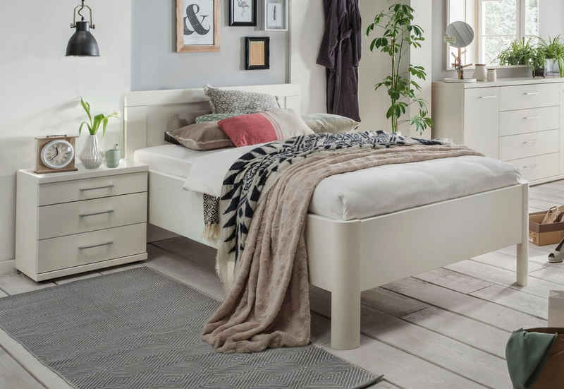 WIEMANN Bett »Bern«, mit Rundfüße und Holzkopfteil