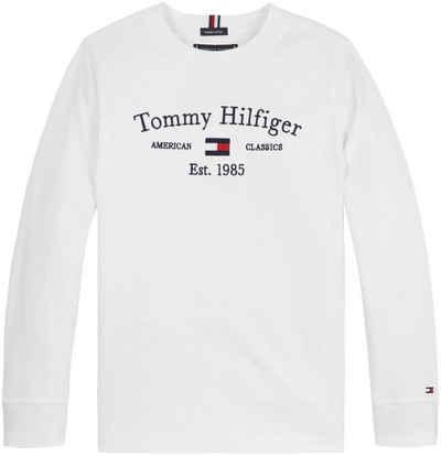 Tommy Hilfiger Langarmshirt »Ärmel mit Rippbündchen«