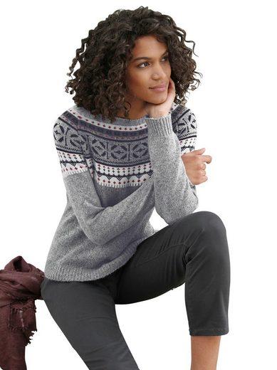 Casual Looks Pullover mit hübschem Norwegermuster