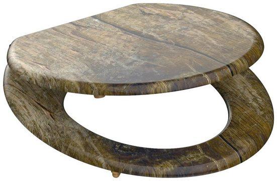 SCHÜTTE WC-Sitz »Solid Wood«, ohne Absenkautomatik