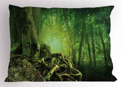 Abakuhaus Kissenbezug »Dekorativer Standard King Size Gedruckter Kissenbezug,«, Wald Mysterious Woods Landschaft