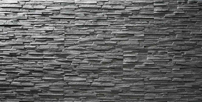 Rebel of Styles Verblender »UltraLight Tasso Grau«, BxL: 18,7x57,5 cm, 0,11 qm, (Set, 6-tlg) in Steinoptik