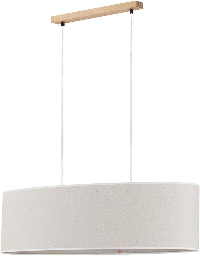 OTTO products Pendelleuchte »Emmo«, Hochwertiger Leinen-Baumwoll Lampenschirm, Naturprodukt mit FSC®-Zertifikat, geeignet für LM E27 - exklusive, Made in Europe