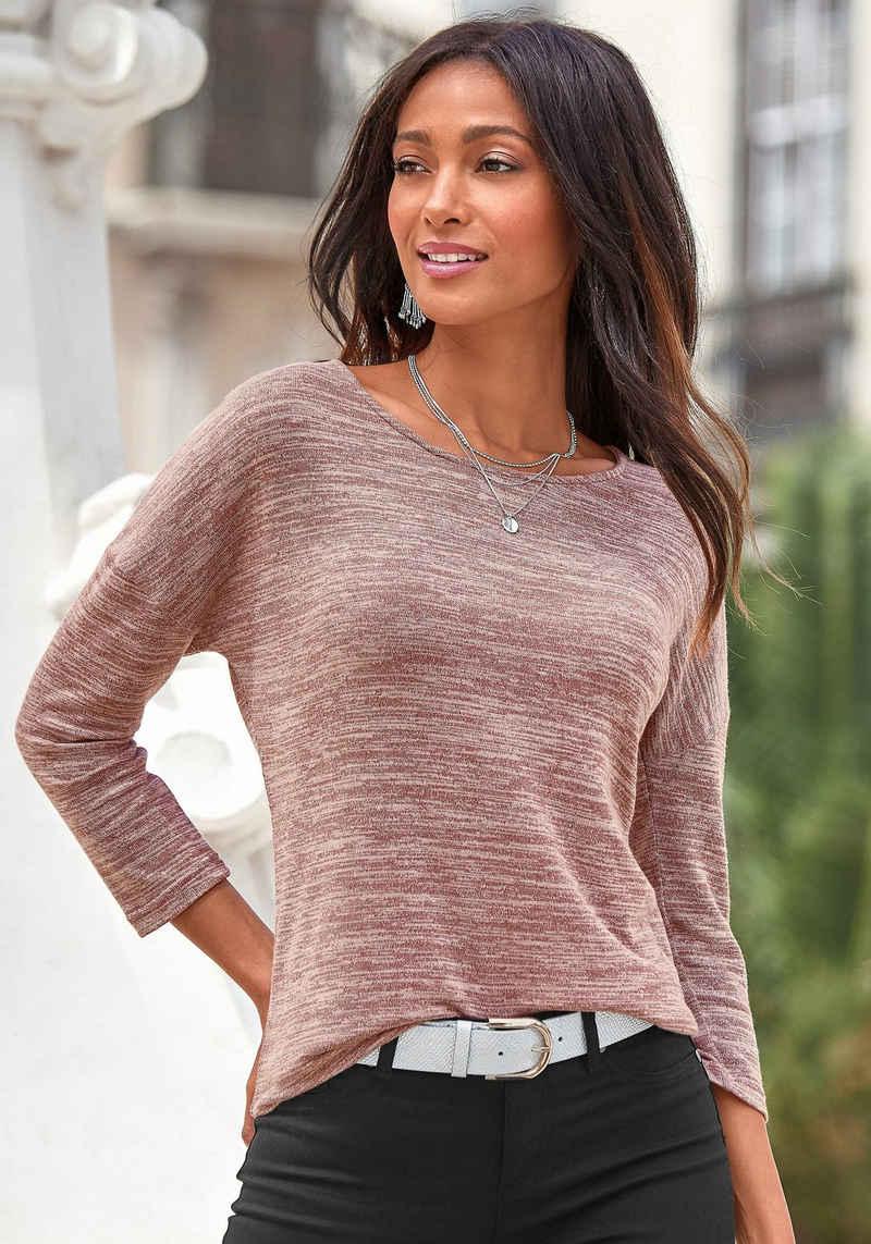 Vivance 3/4-Arm-Shirt aus leichter Strickqualität