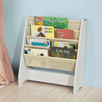 SoBuy Bücherregal »FRG225«, Kinderbücherregal mit 4 Ablagefächern