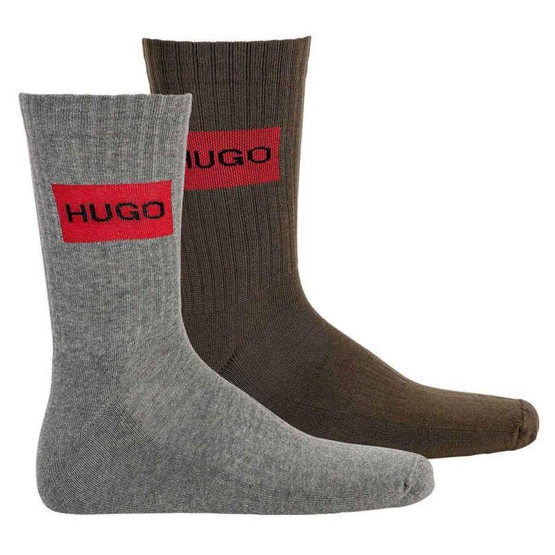 HUGO Kurzsocken »Herren Socken 2er Pack - Kurzsocken, QS Rib Label«