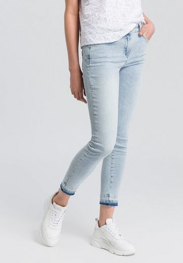 MARC AUREL 5-Pocket-Jeans mit Waschspuren am Saum