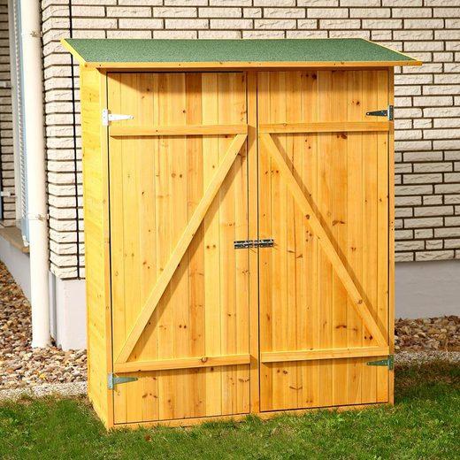 Mucola Geräteschrank »XXL HOLZ Gerätehaus Geräteschuppen Gartenschrank Geräteschrank Gartenhaus«