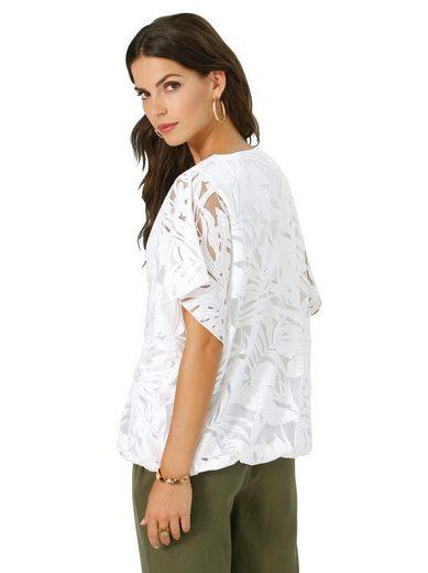 Lady Shirt mit raffiniertem Ausbrenner-Effekt
