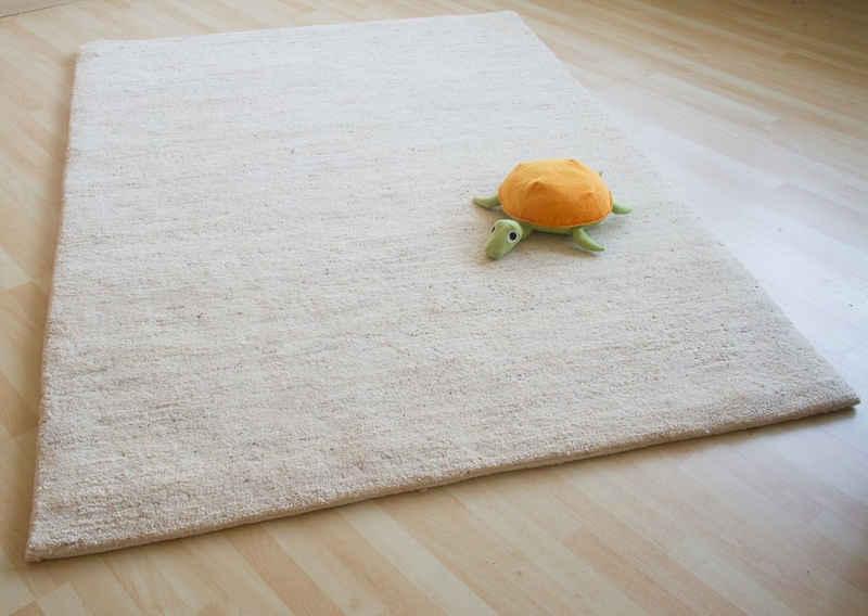 Wollteppich »Nador«, Steffensmeier, Rechteckig, 15/15 double, Berber Teppich aus Marokko, handgeknüpft, Höhe: ca. 32 mm, reine Schurwolle, Schlafzimmer, Wohnzimmer