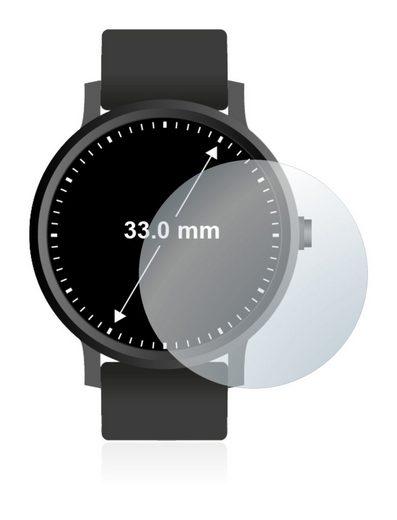 upscreen Schutzfolie »für Armbanduhren (Kreisrund, Durchmesser: 33 mm)«, Folie Schutzfolie matt entspiegelt antibakteriell