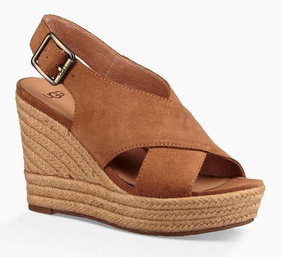 UGG »Harlow« Sandalette mit Jute-Besatz