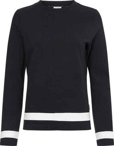 Calvin Klein Langarmshirt »OTTOMAN COLOUR BLOCK LS TOP« mit kontrastfarbenen Details