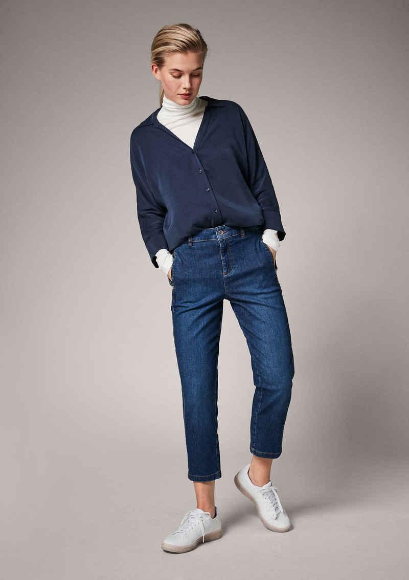 Comma 7/8-Jeans »Regular: Flared cropped leg-Jeans« Reißverschluss