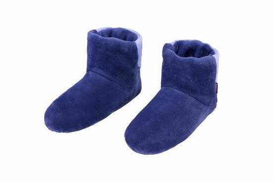 RAIKOU »RAIKOU Cosy Shoe Pantoffel Stiefel für Damen, Herren aus Micro Flausch mit ABS und Rutschfester Sohle, Super Flauschige« Hausschuh weiche Flanellgewebe