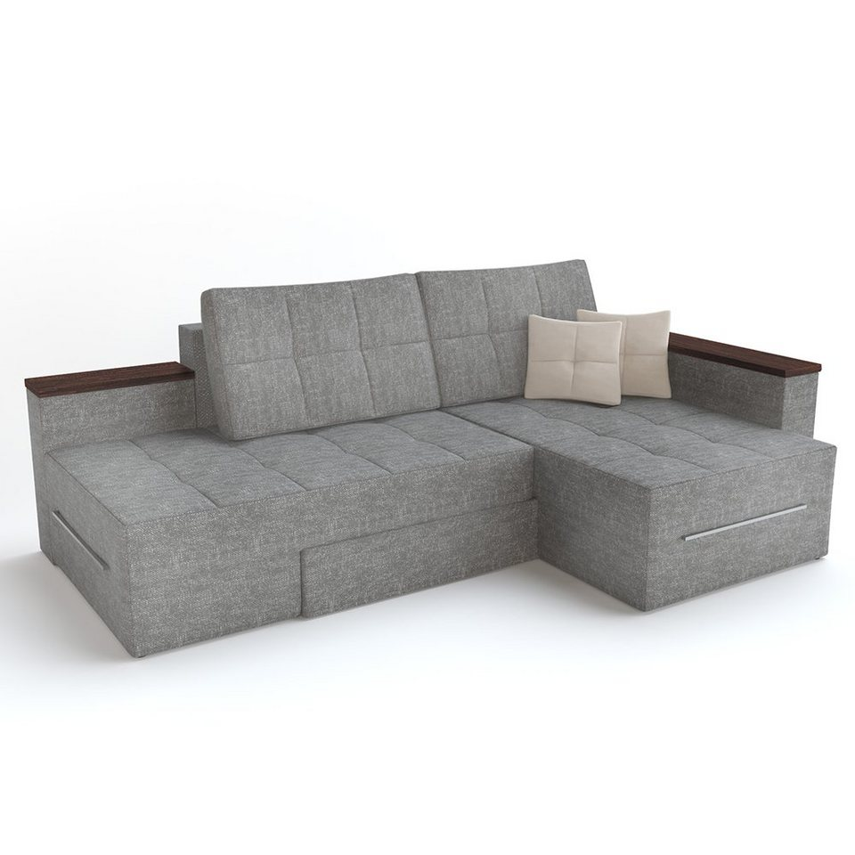 Vicco Ecksofa »mit Schlaffunktion 12 x 12 cm Grau   Eckcouch Sofa Couch  Schlafsofa« online kaufen   OTTO