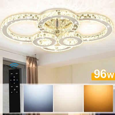 Einfeben Deckenleuchte »Kristall Deckenleuchte 96w LED Hängeleuchte Kronleuchter Lüster Pendelleuchte Lampe«