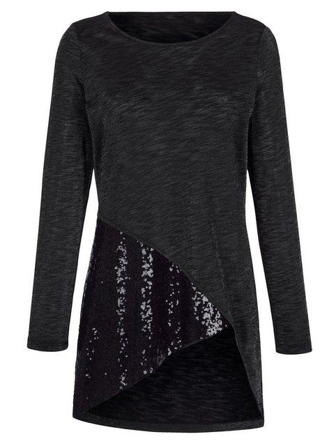 Amy Vermont Longshirt mit Paillettendekoration | Bekleidung > Shirts > Longshirts | Amy Vermont