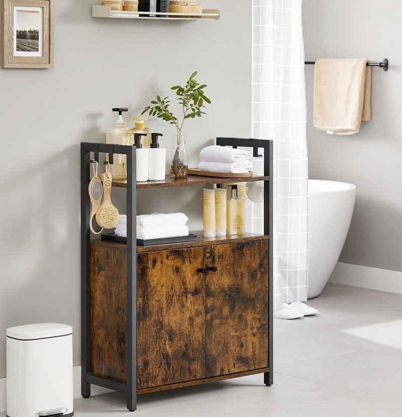 VASAGLE Badkommode »LSC602B01«, Küchenschrank, Badschrank, Beistellschrank mit Ablage, Industrie-Design, vintage