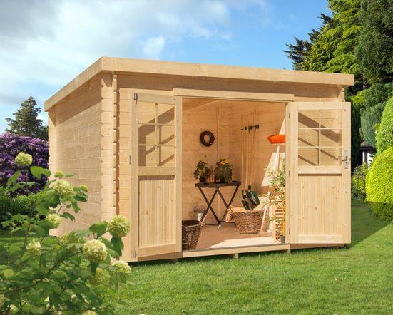 Kiehn-Holz Gartenhaus »LV 476«, BxT: 290x250 cm, inkl. Aufbau und Fußboden, 19 mm Wandstärke