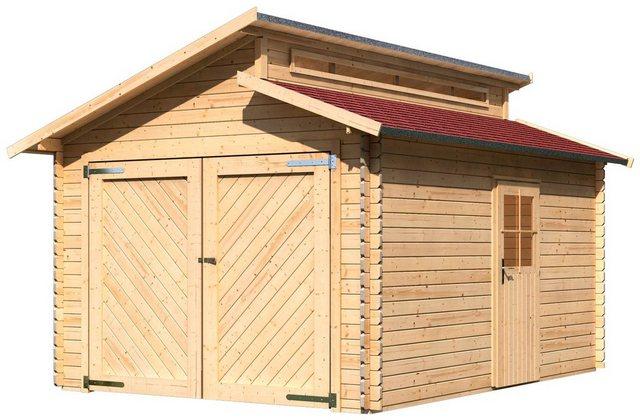 KARIBU Einzel-Garage »Kalle«, BxT: 360x489 cm, Einfahrtshöhe: 193 cm, mit Dachschindeln | Baumarkt > Garagen und Carports > Garagen | Karibu