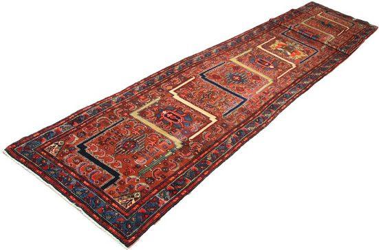 Wollteppich »Hamadan Teppich handgeknüpft braun«, morgenland, rechteckig, Höhe 7 mm, handgeknüpft
