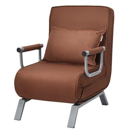 COSTWAY Relaxsessel »Schlafsessel Gästebett Schlafsofa Klappsessel Bettsessel Sofabett Klappeinzelbett Sessel«, klappbar, verstellbare Rückenlehne