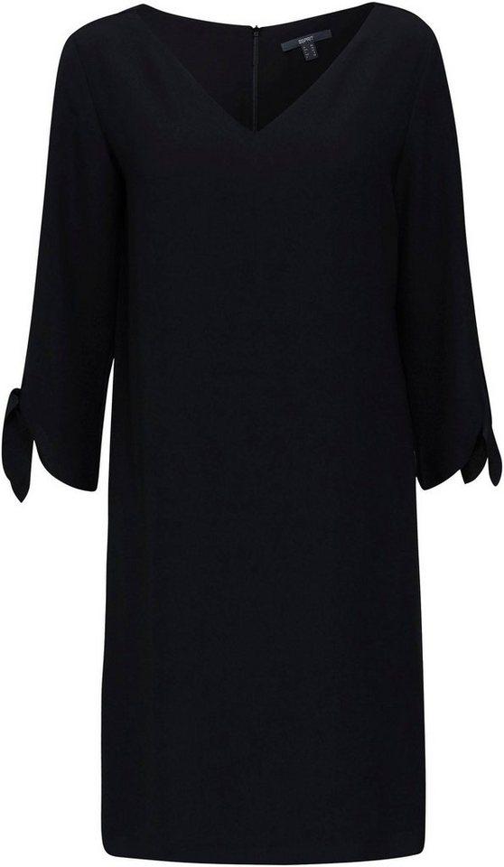 esprit collection -  Blusenkleid mit Laser-Cut Säumen und tollen Schleifen-Detail am Arm