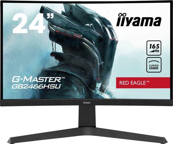 """Iiyama GB2466HSU-B1 Gaming-Monitor (60 cm/24 """", 1920 x 1080 Pixel, Full HD, 1 ms Reaktionszeit, 165 Hz, VA LED)"""