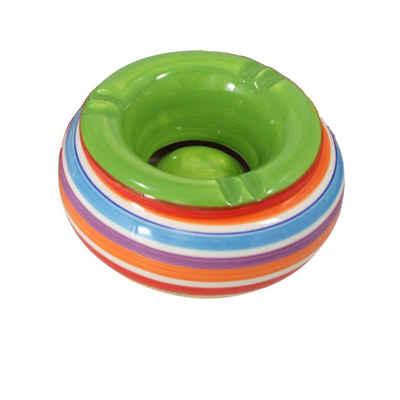 HTI-Living Aschenbecher »Aschenbecher, mehrfarbig Keramik«