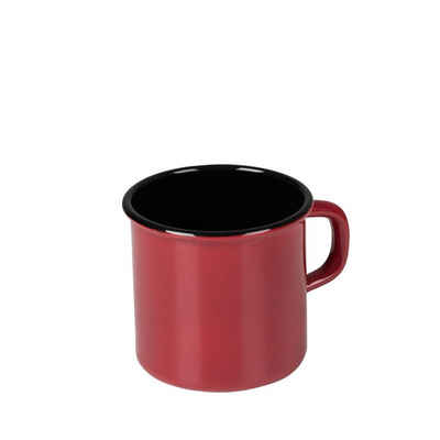 Riess Tasse »Topf mit Bördel Color-Rot«, Emaille