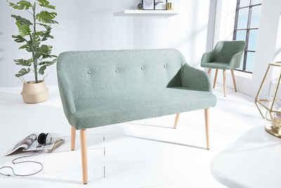 riess-ambiente Sitzbank »SCANDINAVIA MEISTERSTÜCK 116cm grün / natur«, mit Massivholz-Beinen