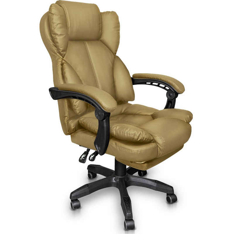 TRISENS Chefsessel, Schreibtischstuhl Bürostuhl Gamingstuhl Racing Chair Chefsessel mit Fußstütze