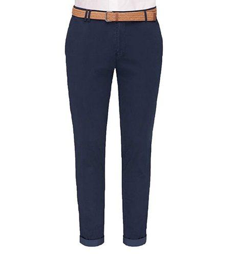 CG Club of Gents Stoffhose »CLUB of GENTS Clinton Hose modische Herren Mode-Hose mit seitlichen Eingrifftaschen Business-Hose Blau«
