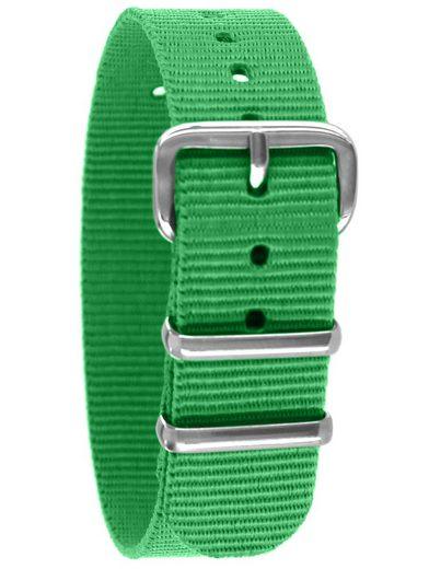 Pacific Time Uhrenarmband »Wechselarmband Uhrenarmband Durchzugsband Textil Nylon 16mm«, abwaschbar --- Gratis Versand