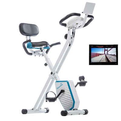 Skandika Fitnessbike »Foldaway X-1000 PLUS (weiß/blau)«
