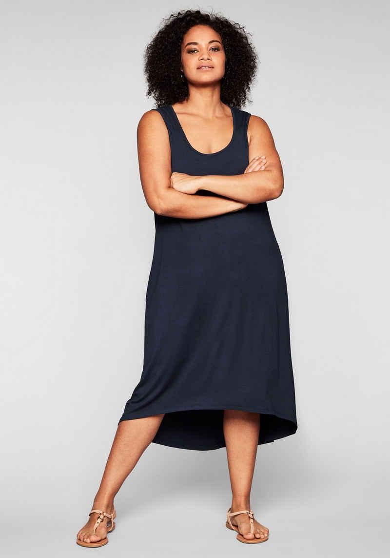 Sheego Strandkleid mit Taschen, im Vokuhilaschnitt