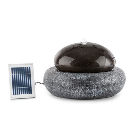 blumfeldt Gartenbrunnen »Ocean Planet Solarbrunnen 200l/h Solarpanel 2W Akku LED Polyresin«, 49 cm Breite